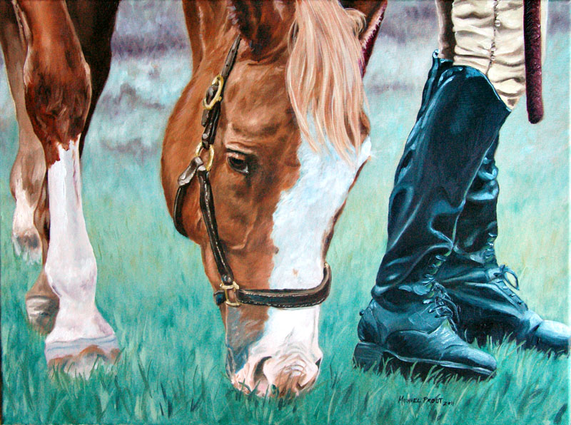 Horse Friends Oil Painting